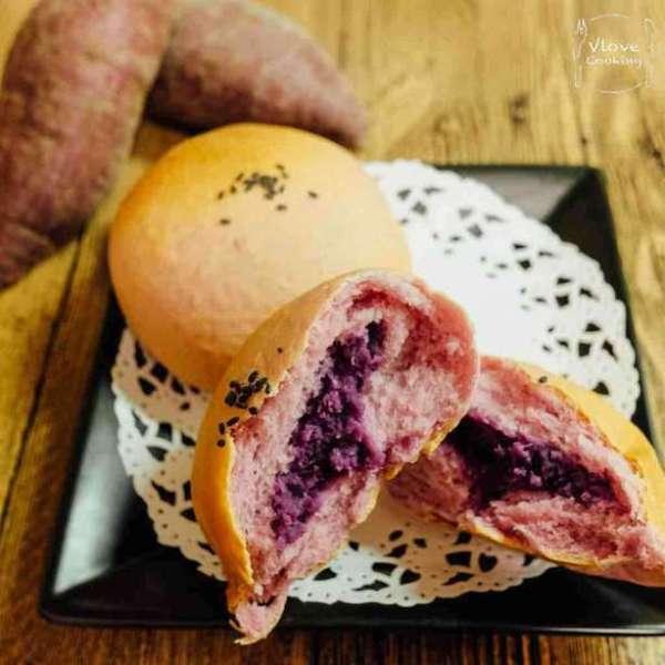 紫薯牛奶包