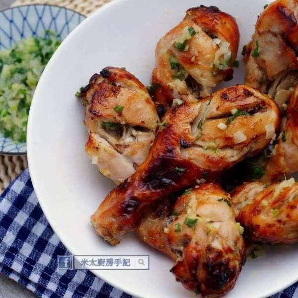 鹽麴蔥油雞腿