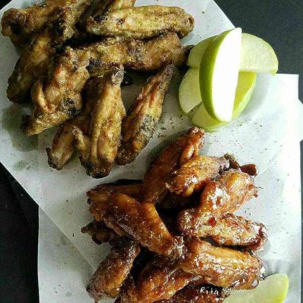 綠茶鹽單骨雞翼:麥芽醬油單骨雞翼