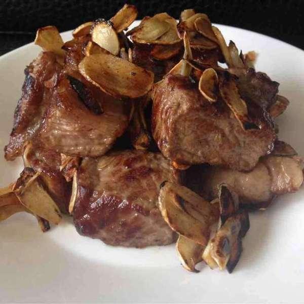 蒜片牛肉粒