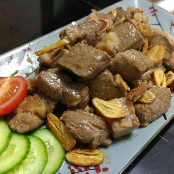 韓式蒜片牛肉粒