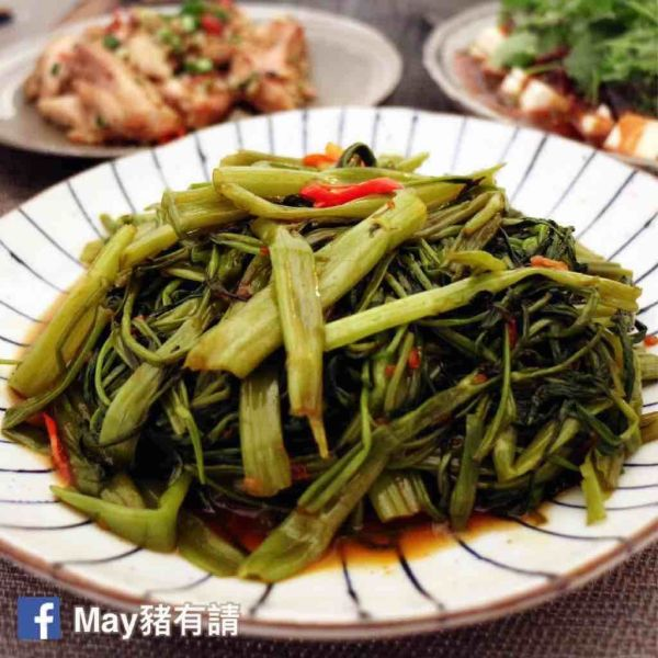 馬拉盞炒通菜-May豬有請