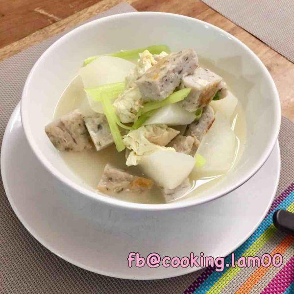 鯪魚肉、蘿蔔清湯