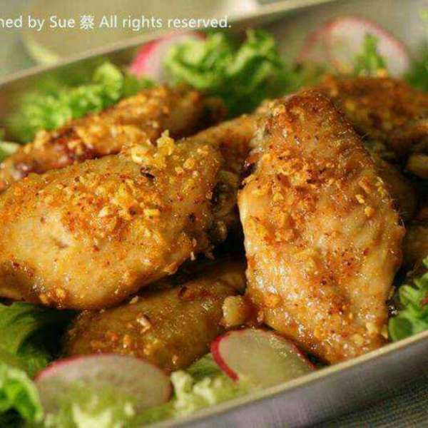 住家菜 – 牛油蒜蓉焗雞翼