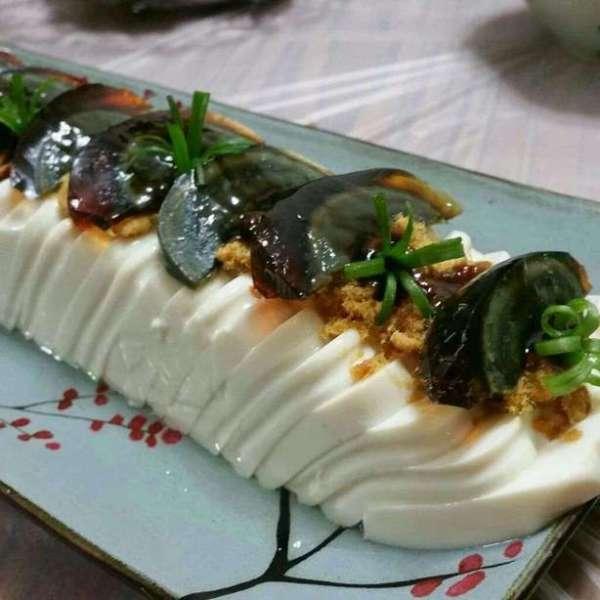 皮蛋肉鬆凍豆腐
