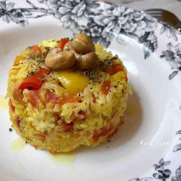 電飯煲蕃茄雜菜黃薑飯
