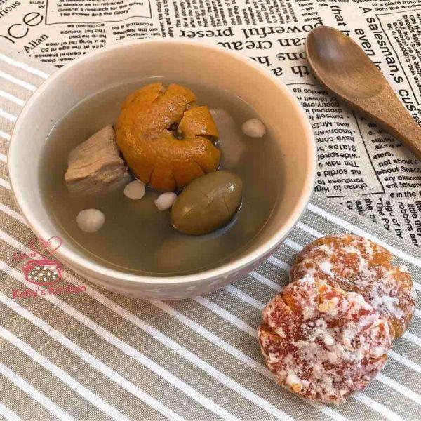 青欖桔餅瘦肉湯