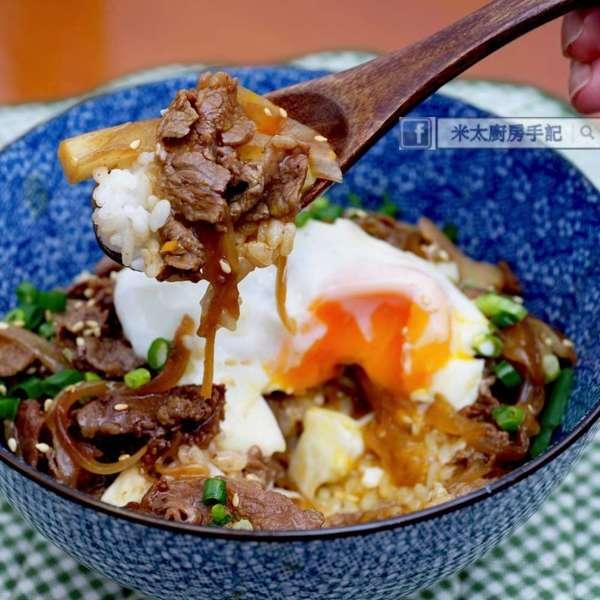 日式汁燒牛肉飯 配 水波蛋