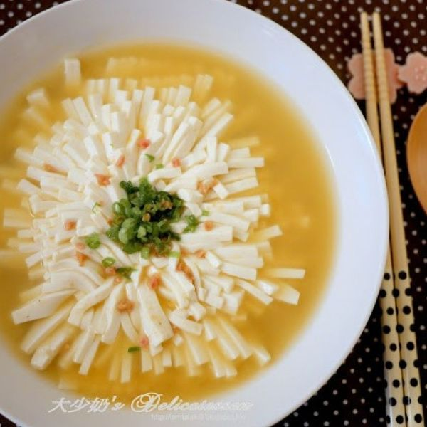 菊花豆腐羹