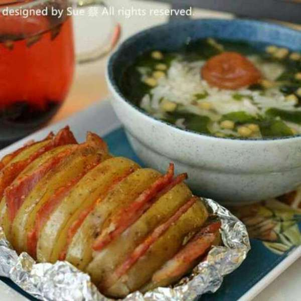 一人炊事 – 梅子茶泡飯 薯仔瘋了