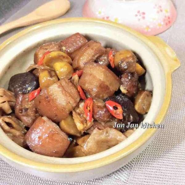 栗子冬菇炆腩肉