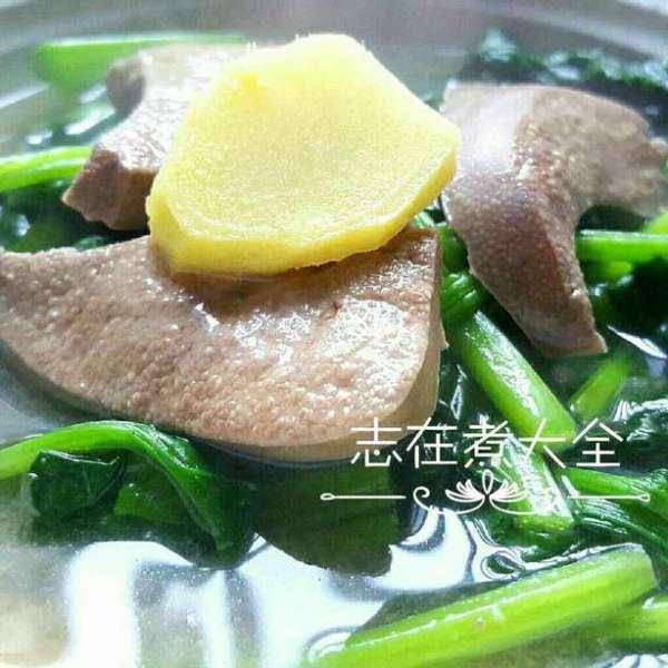 補補血菠菜豬潤水