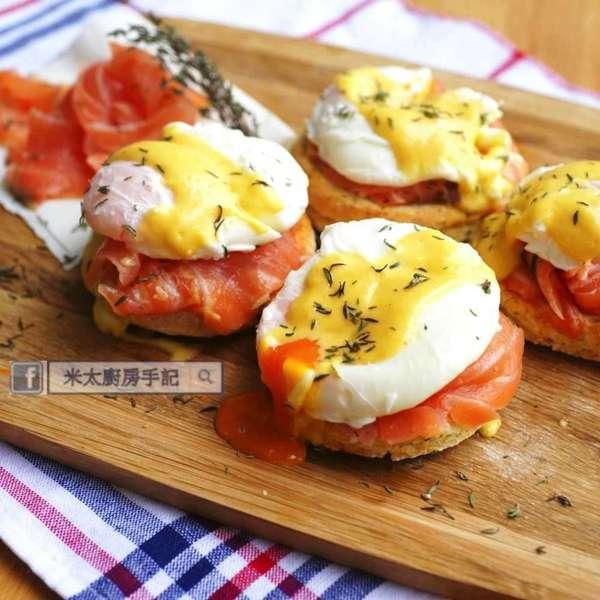 香草三文魚班尼迪克蛋 Eggs Benedict