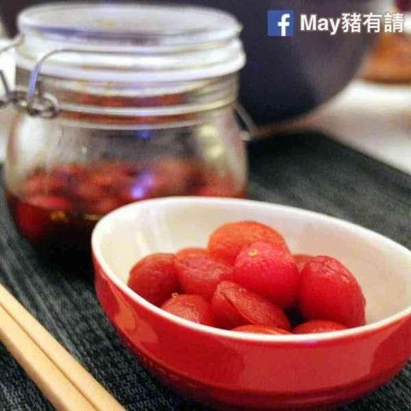 桂花龍眼蜜漬蕃茄