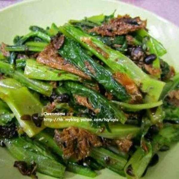 豆豉鯪魚油麥菜