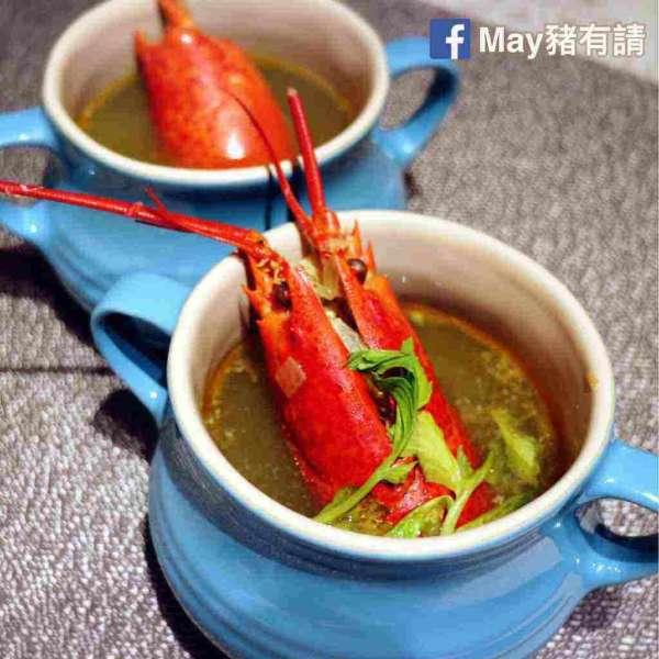 鮮龍蝦什菜湯