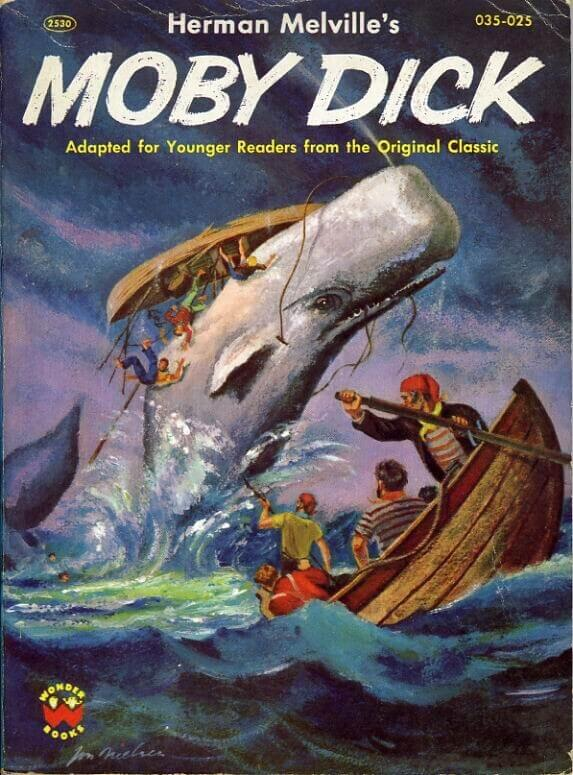 magazine cover of moby dick.