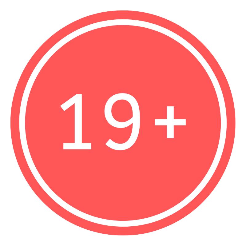 Red Circle 19+.