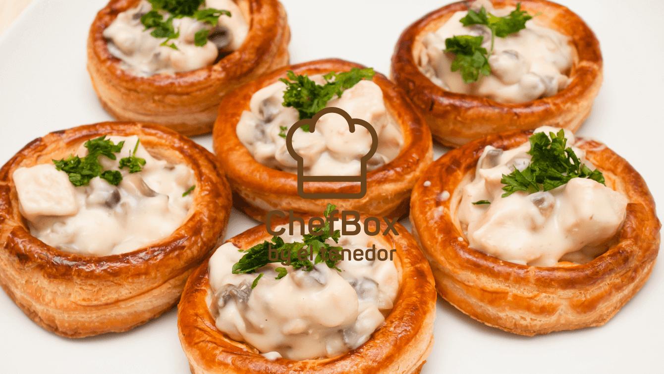 mushroom pot pie - vol au vent.