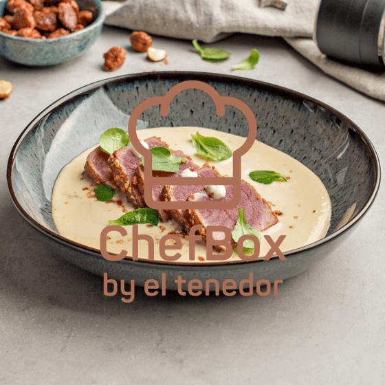 tuna and garlic almond spaniard cold soup.