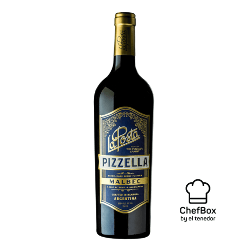 bottle of red wine.