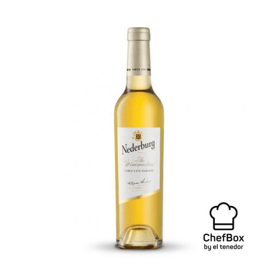 bottle of noble late harvest wine.