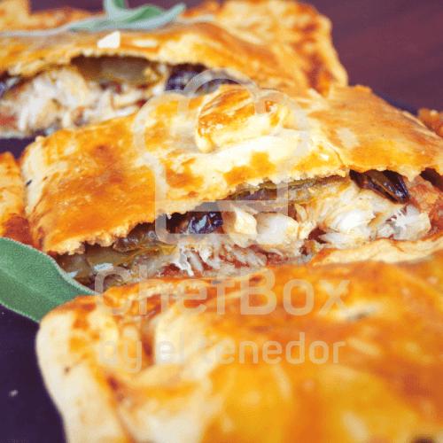 Cod and raisin spanish pie.