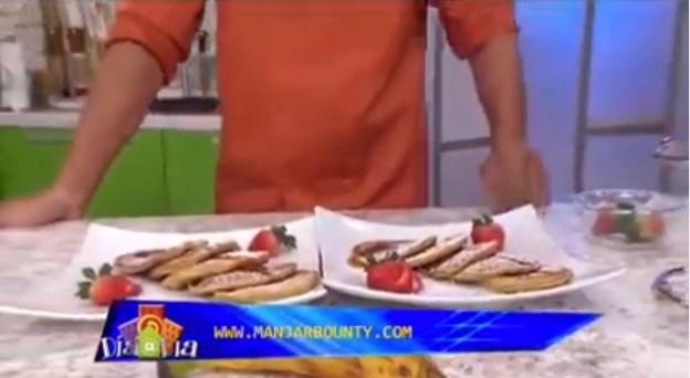 Pancakes de platano maduro