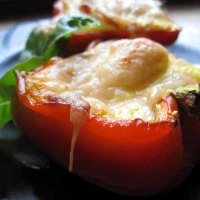 Egg, Bacon, and Cheese Stuffed Peppers
