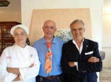 Ristorante Mocajo. La Chef Laura Lorenzini, Giorgio Dracopulos e Fabrizio Lorenzini.