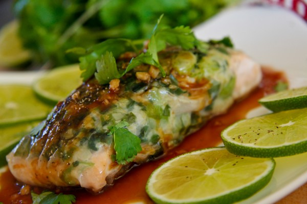 Salmon Wrapped in Rice Paper | ChefJulieYoon.com