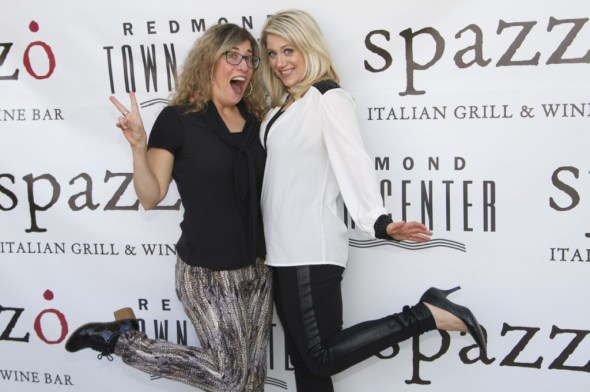Danielle Bortone-Holt and I. Photo: Danielle Bortone-Holt Location Spazzo Italian Grill and Wine Bar