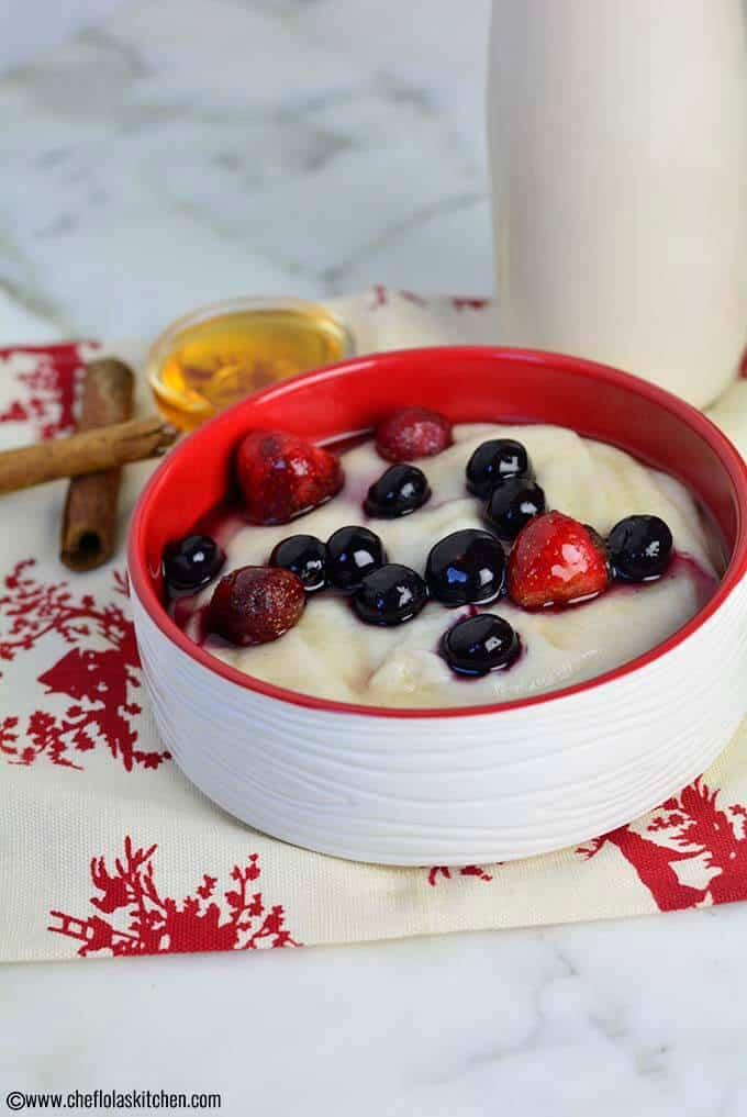 Breakfast Semolina porridge also known as cream of wheat