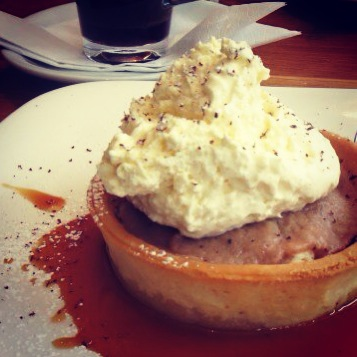 Banoffee pie in Dublin, Ireland.