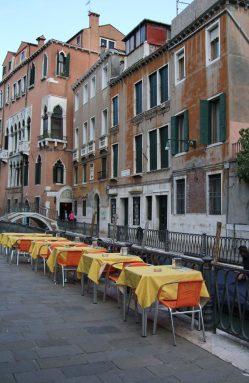 Dining in Venice, Italy.