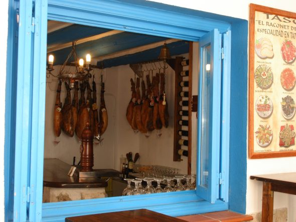 Butcher shop, Peniscola, Spain.