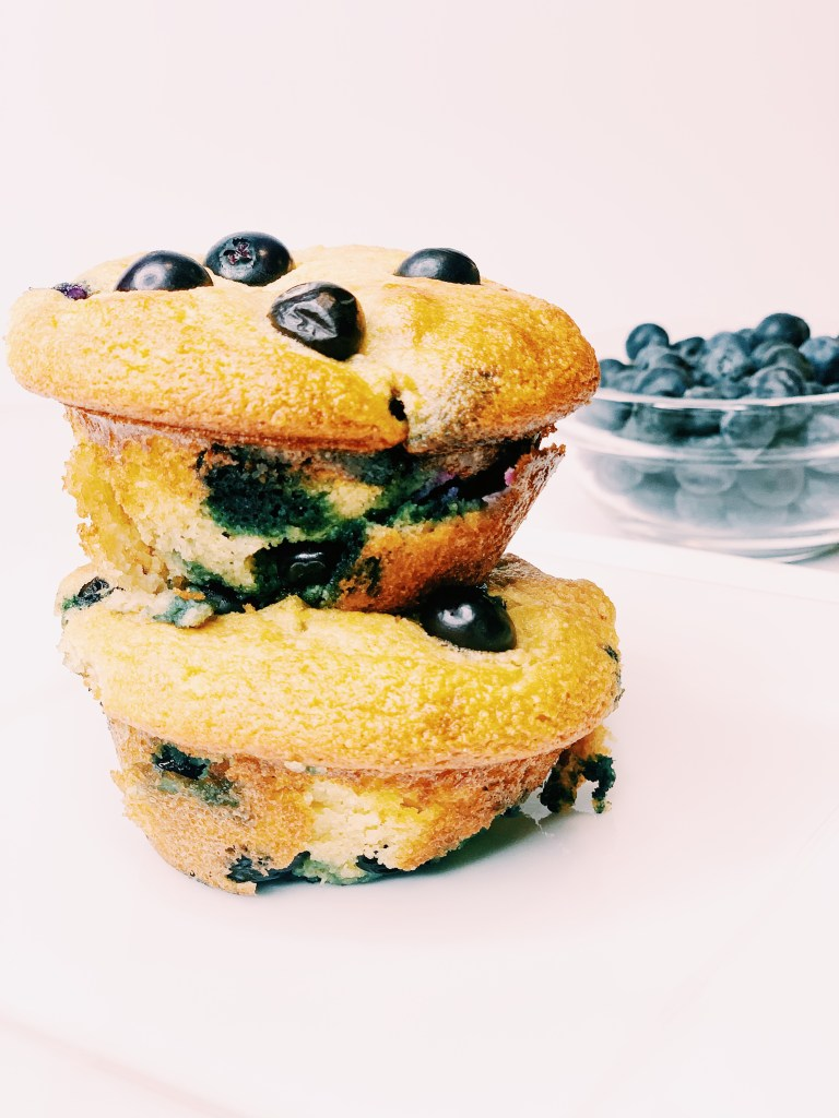 Healthy Gluten Free Blueberry and Lemon Muffins