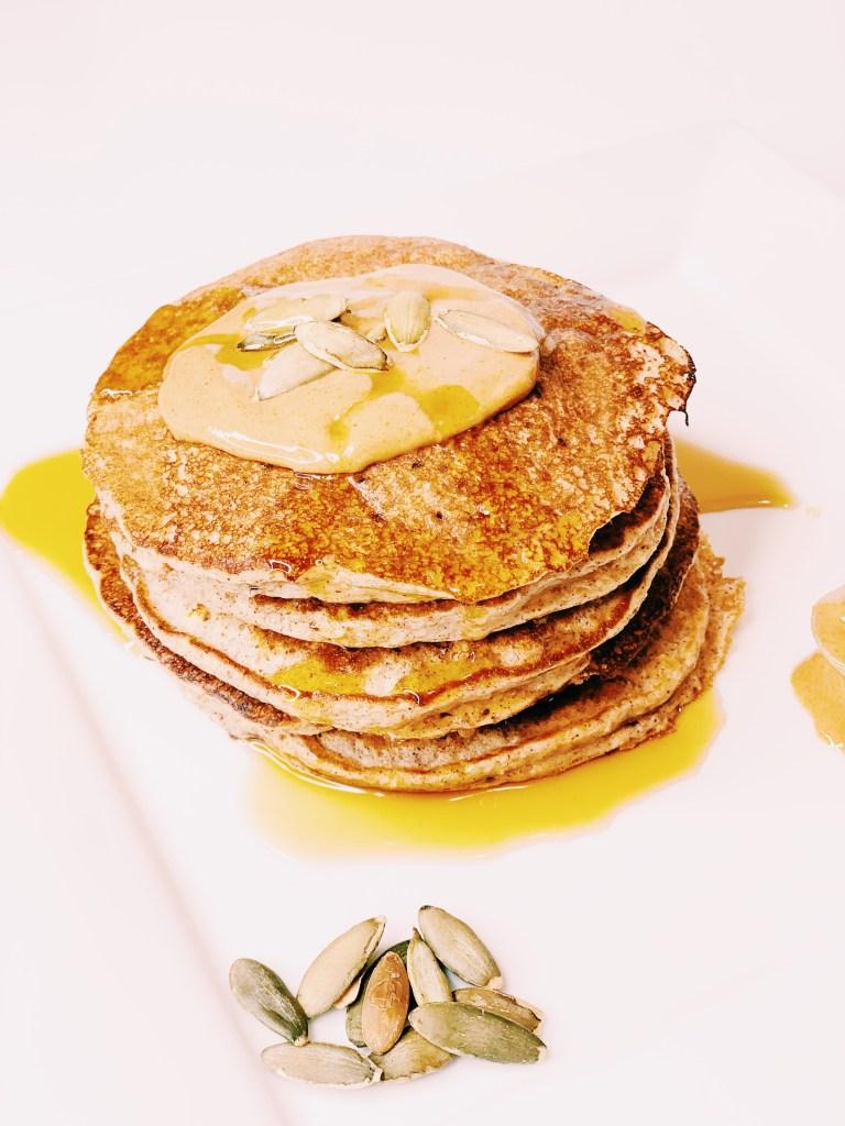 Pumpkin Spice Blender Protein Pancakes
