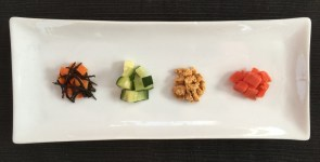 Fillings can include hijiki and carrots, salt-massaged cucumbers, egg and smoked salmon