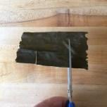 Cut slits in kombu