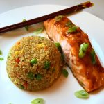 Asian Glazed Salmon & Quinoa Fried Rice