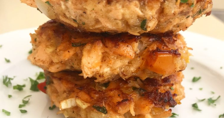 Not your grandmother's salmon cakes