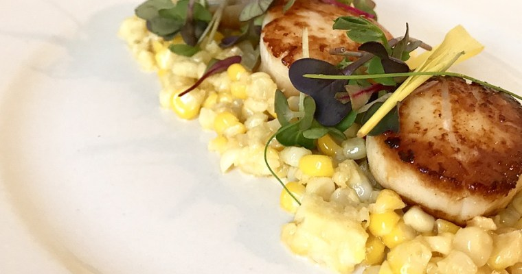 Seared Scallops with Creamed Corn