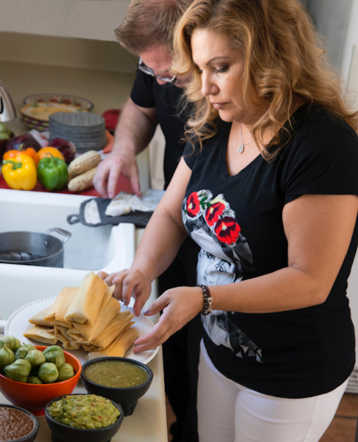 holiday tamalada, tamal making party, tamale making party, chef rosie, provecho grill, latina chef, calimex food