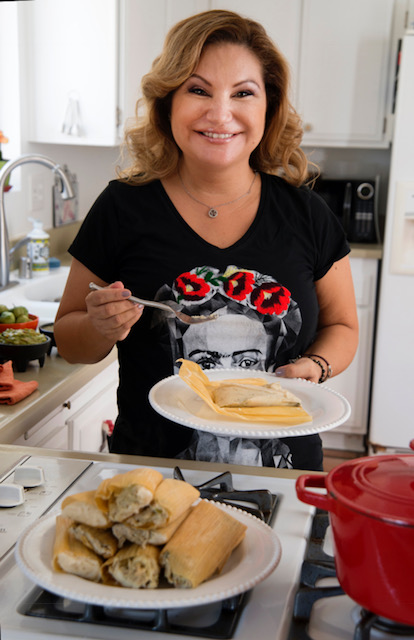 tamalada tradition, chef rosie, provecho grill, award winning latina chef, latina chef, calimex cuisine