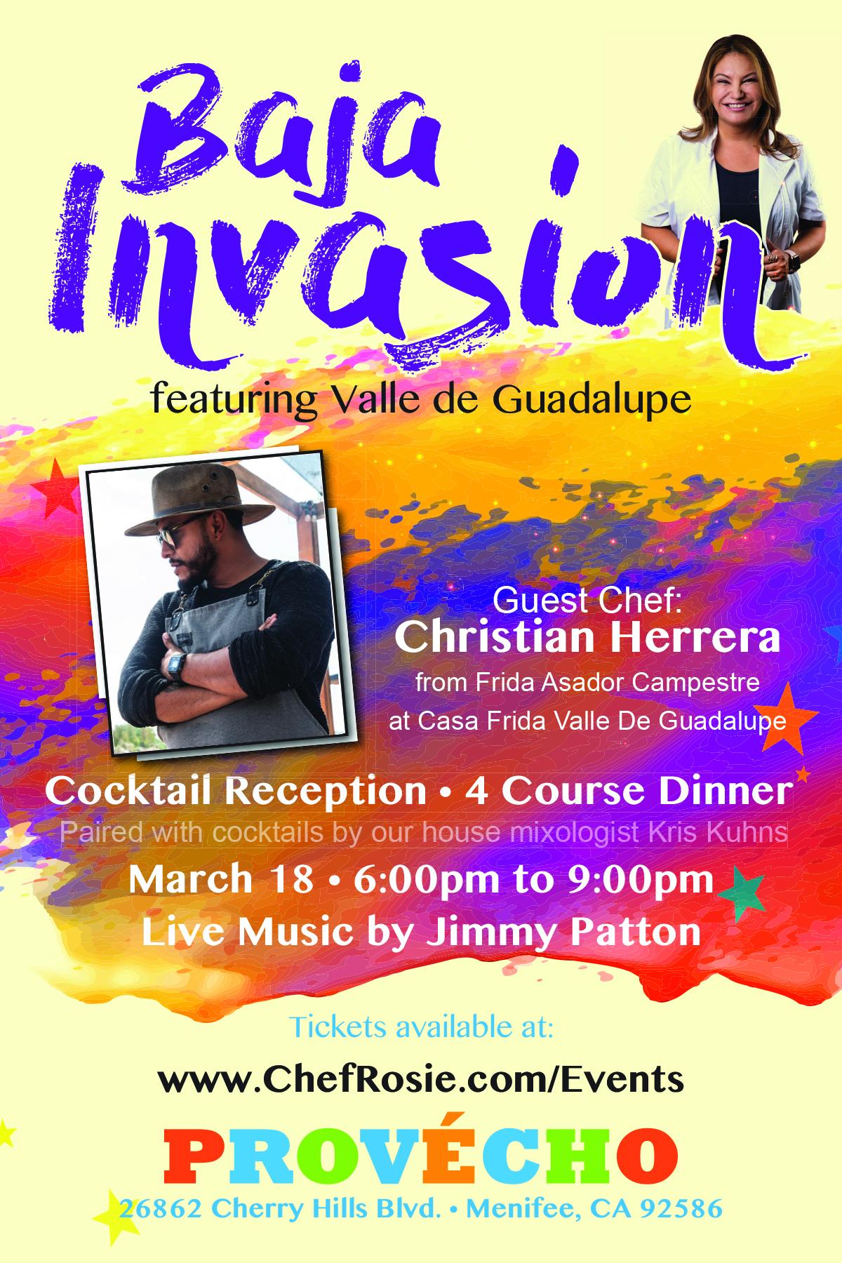 Baja Invasion dinner with Chef Rosie, Chef Christian Herrera