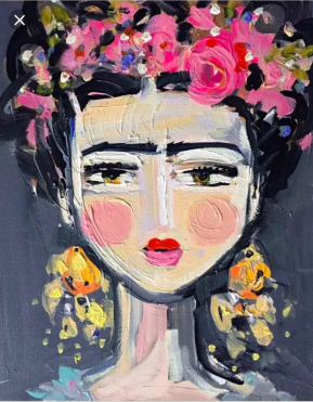 Frida Kahlo painting, chef rosie, menifee, california, paint and sip