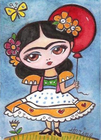 little frida drawing, Haring, paint n sip, menifee, california