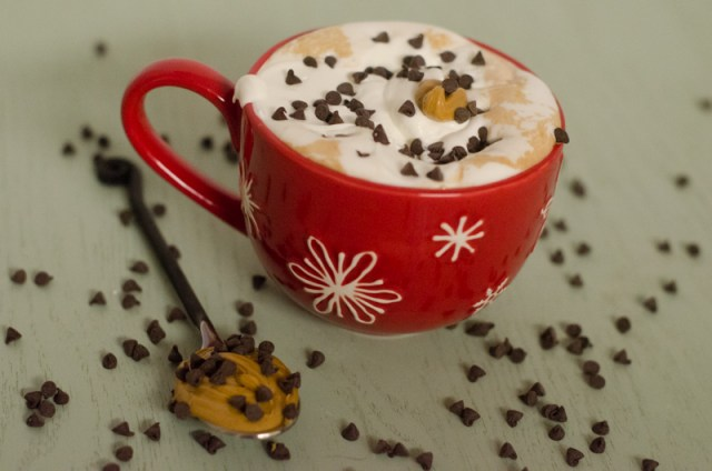 peanut butter hot cocoa from ChefSarahElizabeth.com