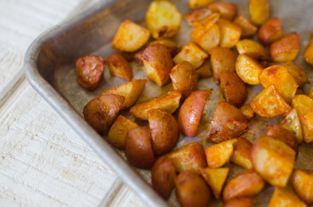Roasted New Potatoes from ChefSarahElizabeth.com